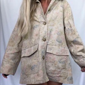 Eddie Bauer Neutral Tones Floral Cotton Jacket